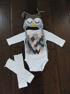 Baby bird owl girl halloween costume Carter's etsy newborn 0-3 months, | eBay