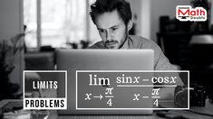 Learn how to calculate the limit of the quotient of sinx-cosx by x-π/4 as x approaches to π/4 Math Problems, Problem And Solution, Mathematics, Cinema, This Or That Questions, Learning, Math, Movies, Studying