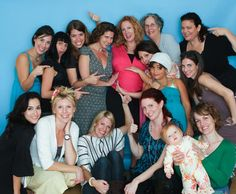 cute pic of baby shower guests