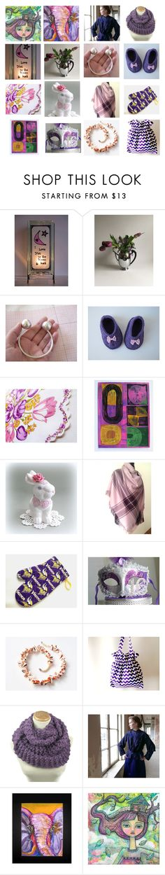 Purple-Liscious by seasidecollectibles on Polyvore featuring interior, interiors, interior design, home, home decor, interior decorating, Pink Tartan, Handle and vintage