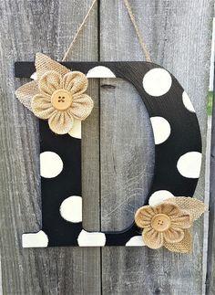 door décor, monogram door hanger, wall décor, letter wall décor, home décor