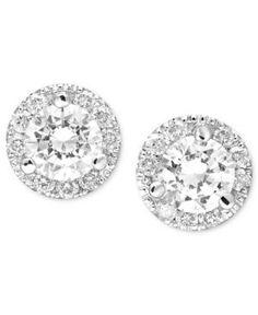 Margarita Diamond Stud Earrings in White Gold ct. Diamond Studs, Diamond Jewelry, Diamond Earrings, Stud Earrings, Jewelry Accessories, Jewelry Design, 14k White Gold Earrings, Best Friend Jewelry, Diamond Wedding Rings