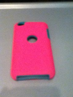 Pink and green i pod touch 4g case