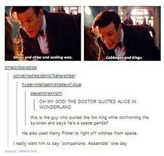Doctor who... satisfying my every nerdy need in life