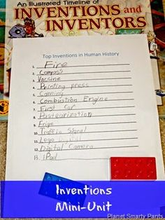 Critical Thinking and Writing Activity for Kids - Inventions  #stemactivities