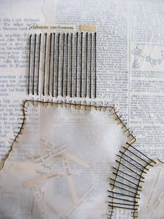 Mixed Media, Healing with Words - interesting with the stitches added