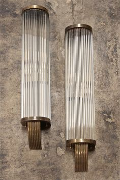 Italian 60's Pair of Tubular Glass Sconces | From a unique collection of antique and modern wall lights and sconces at https://www.1stdibs.com/furniture/lighting/sconces-wall-lights/