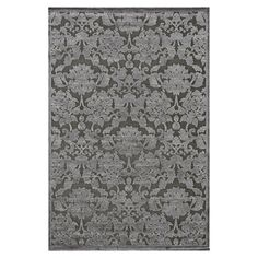Anchor your dining set or living room seating group in style with this chenille and art silk rug, showcasing a damask motif in taupe and grey.  ...