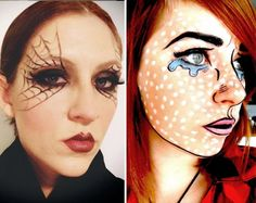 макияж грим на хэллоуин человек комикс