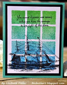 Liesbeth F - Additional stamps: DRS077 Sail Away
