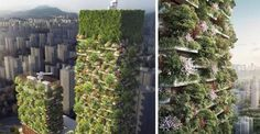 China Is Growing Vertical Forests To Help Combat Pollution - Will this help? I hope so. At least they're trying. :-/