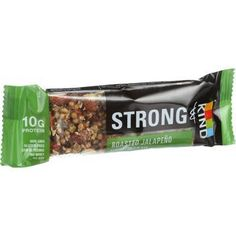 Strong and Kind Bar Roasted Jalapeno Almond 1.6 oz Bars Case of 12