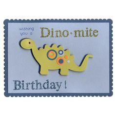 A7 birthday dino card