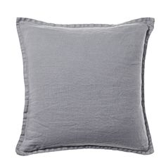 Belgian Vintage Washed Linen Seal Grey Cushion