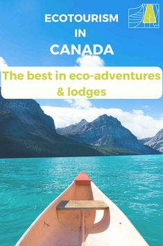 Explore the best eco-adventures and lodges Canada has to offer. (Photo: Hector Lake, Banff National Park. Community canoes lay on the beach here for anyone to use. This spot is an off the beaten path spot where you won't find anyone else. Only a 90 minute walk from the Icefields Parkway.) Backpacking Canada, Canada Travel, Laying On The Beach, Canada Holiday, Visit Canada, Responsible Travel, Sustainable Tourism, Cultural Experience