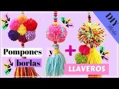 POMPONES DE LANA FÁCIL + 3 IDEAS DE LLAVEROS de lana paso a paso - YouTube Diy Tassel, Tassels, Halloween Menu, Diy And Crafts, Arts And Crafts, Crochet Scarves, Diy Nails, Decoration, Embellishments