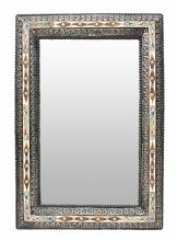 Moroccan Mirror Wood and Silver Maillechort Handmade 70 cm x 50 cm Moroccan Mirror, Frame Crafts, Hand Engraving, Craftsman, Tea Pots, Sink, Mirrors, Hand Painted, Rugs
