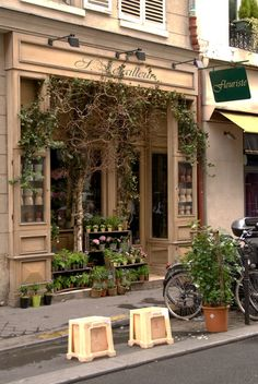 flower shops in paris | Charming Paris Flower shop in the back streets.