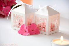 Lézervágott madárkás doboz, esküvői köszönetajándék, vendégajándék, ajándékdoboz, köszönőajándék