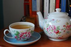 LOVE Cath Kidston teapot and tea cup...I think I was English in another life :-)