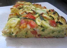 *Gâteau invisible léger aux courgettes/tomates et colin d'Alaska au curry