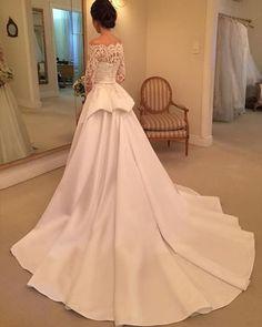 "1,158 curtidas, 32 comentários - Wanda Borges (@wanda_borges) no Instagram: ""Ana Laura #vestidodenoiva #wandaborges #weddingdress"""