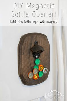 Make a DIY magnetic bottle opener; perfect Father's Day gift or birthday present, and this step by step tutorial makes it so easy to do!