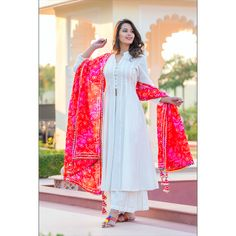 Desi Fashion: Looks to get Hook Of - AwesoneLifestyle Fashion Indian Fashion, br. - Desi Fashion: Looks to get Hook Of – AwesoneLifestyle Fashion Indian Fashion, bright pink-red dup - Dress Indian Style, Indian Dresses, Indian Outfits, Pakistani Dresses Casual, Pakistani Dress Design, Pakistani Gharara, Pakistani Culture, Pakistani Fashion Casual, Pakistani Bridal
