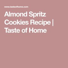 This almond spritz cookies recipe can be left plain or decorated with colored sugar and frosting. In our house, it just wouldn't be Christmas without some cookie press recipes. Butter Pecan Cookies, Honey Cookies, Spritz Cookies, Almond Cookies, Cut Out Cookies, Shortbread Cookies, Icebox Cookies, Sugar Cookies, Button Cookies