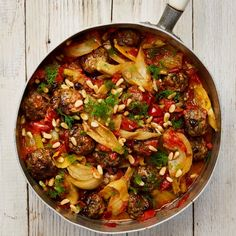 Yotam Ottolenghi's lamb meatballs with braised fennel.Yotam Ottolenghi's lamb meatballs with braised fennel. Yotam Ottolenghi, Ottolenghi Recipes, Lamb Mince Recipes, Meat Recipes, Cooking Recipes, Recipies, Fennel Recipes, Fusion Food, Breakfast