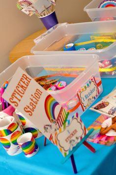 Rainbow Unicorn Art Party with SO MANY FABULOUS IDEAS via Kara's Party Ideas | KarasPartyIdeas.com | Printables, favors, cakes, games, and m...