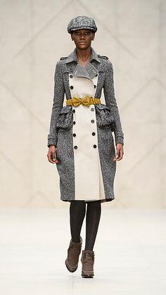 Cotton Tweed Trench Coat | Burberry