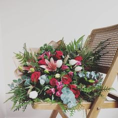 FRESH FLOWER BOUQUET F l o r a l S t y l i s t  (@pebbleanddot)  How romantic is this beauty? ❤ Fresh Flowers, Bouquets, Floral Wreath, Romantic, Wreaths, Beauty, Home Decor, Floral Crown, Decoration Home