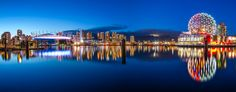 https://flic.kr/p/uwNVbP | Downtown Vancouver | I took this shot of Vancouver downtown a couple weeks ago at the blue hour. I got pretty lucky that day with not a lot of wind - essential for the reflections.