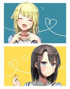 Kokoro x Misaki Anime Art Girl, Manga Art, Anime Girls, Kawaii Girl, Kawaii Anime, Yuri, Anime Friendship, Fan Anime, Baguio