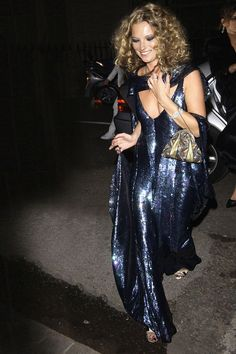 2004: Moss, in head-to-toe sequins, at her The Beautiful and the Damned-themed 30th birthday bash.   - HarpersBAZAAR.com