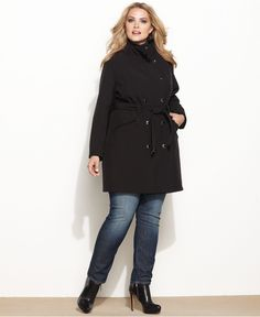 style plus size coat, military double-breasted - macy's | #2
