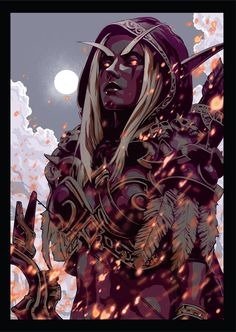 Terrific Screen wow World Of warCraft Suggestions : Sylvanas - Printed by World of Warcraft and Art - INPRNT. Art Warcraft, World Of Warcraft 3, World Of Warcraft Characters, Mononoke Cosplay, World Of Warcraft Wallpaper, Overwatch, Sylvanas Windrunner, Wow World, Blood Elf