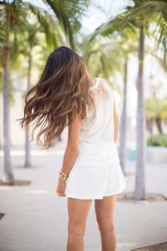 brown #ombre hair long wavy