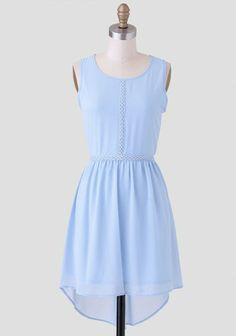 Endearing Crochet Detail Dress In Blue | Modern Vintage Dresses | Modern Vintage Clothing