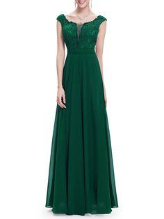 #AdoreWe #StyleWe Maxi Dresses - CICI WANG Folds Paneled Scoop Neckline Floral Elegant Evening Dress - AdoreWe.com