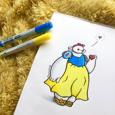 Baymax, Disney's newest character from the movie Big Hero 6 is already a loved and adored character, which is what prompted self-taught illustrator Bmax Disney, Heros Disney, Disney Magic, Disney Movies, Punk Disney, Disney Cosplay, Disney Drawings, Cute Drawings, Drawing Disney
