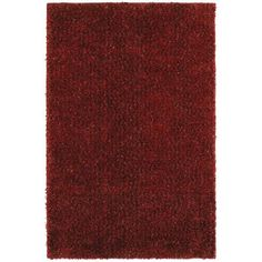 """Townhouse Rugs Trendy Ruby Red 5-Feet by 8-Feet Shag Rug by Townhouse Rugs. $211.39. 100% olefin. Action backing. Spot clean only. Stain and fade resistant machine made shag rug. 1-7/8"""" pile. These printed rugs are as vibrant as they are durable. Through cutting-edge manufacturing and innovation, these rugs are stain and fade resistant.. Save 18%!"""