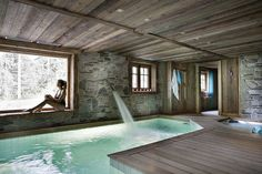 Amazing Small Indoor Pool Design Ideas 41 image is part of Amazing Small Indoor Swimming Pool Design Ideas gallery, you can read and see another amazing image Amazing Small Indoor Swimming Pool Design Ideas on website Small Indoor Pool, Indoor Swimming Pools, Swimming Pool Designs, Indoor Pools In Houses, Outdoor Pool, Chalet Design, House Design, Location Chalet, Location Saisonnière