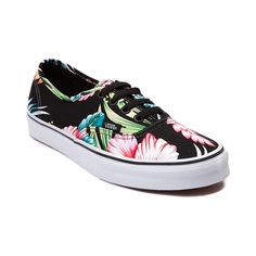 Shop for Vans Authentic Hawaiian Floral Skate Shoe in Black at Journeys Shoes.