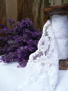 Lavenders and lace.