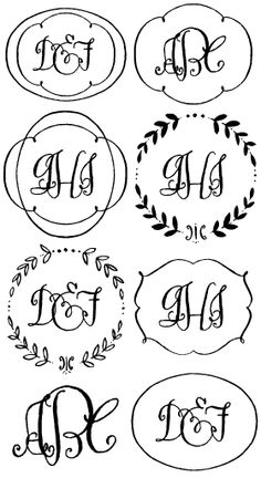 Darling Monograms designed by Crystal Kluge of tart workshop