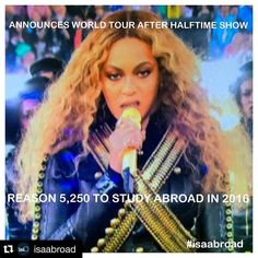 #repost @isaabroad Just one more reason why you have to study abroad in 2016! #beyoncemademedoit #beyonce #studyabroad #lol by uww_cge