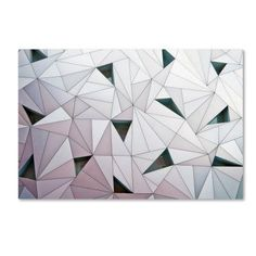 My Art Outlet 'Triangulation' by Linda Wride Graphic Art Print on Wrapped Canvas Size: Canvas Wall Art, Wall Art Prints, Canvas Prints, Artist Canvas, Oeuvre D'art, Wrapped Canvas, Picture Frames, Graphic Art, Fine Art