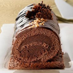 - inspired the creation of a Buche Noel at Chalet Vache Bleue this Christmas Chocolate Log, Christmas Chocolate, Christmas Sweets, Christmas Cooking, Christmas Log, Xmas, Cake Roll Recipes, Snack Recipes, Cooking Recipes